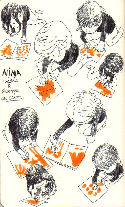 Nina dessine